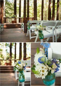 redwood ceremony decor ideas