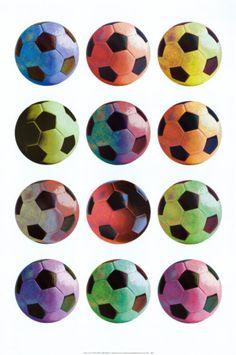 Pop Art Soccer Print by Anthony Matos at Art.com