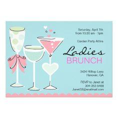 Ladies Spring Brunch Invitations