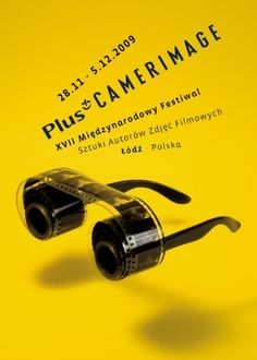 Plus Camerimage Lodz Pologneby by Michal Batory Graphic Design Posters, Graphic Design Illustration, Graphic Design Inspiration, Festival Posters, Film Festival, Typography Prints, Typography Design, Poster S, Poster Prints