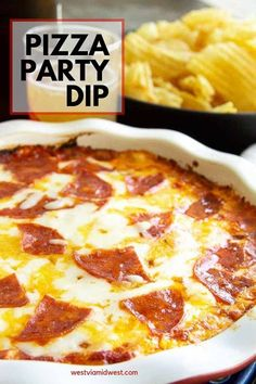 Aug 2019 - Cheese Pizza with loads of pepperoni in an appetizer dip. Simple to make, especially easy to use to make for a party to serve a crowd! Pizza Dip Appetizers, Appetizers For A Crowd, Appetizer Dips, Appetizer Recipes, Party Appetizers, Pizza Recipes, Cooking Recipes, Skillet Recipes, Party Recipes