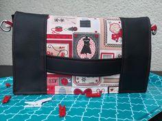 Cachôtin simili noir et coton imprimé couture de Christelle - patron Sacôtin