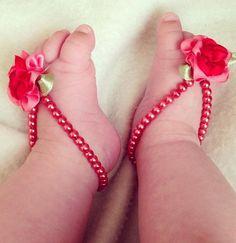 40 Cute DIY Baby Barefoot Sandals 2015  #barefootsandals #cutediysandals #kidsfashion2015