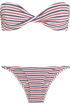 Lisa Marie Fernandez Textured Pucker Bandeau Bikini {Fourth of July anyone?}