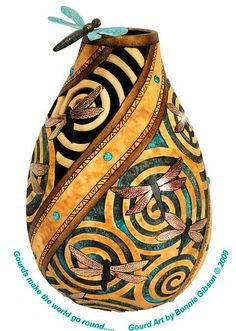 Images of uses for gourds   Arizona Gourds - Distinctive gourd art by Bonnie Gibson
