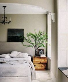 Clean, simple, and muted grays make for a relaxing and stress-free bedroom.