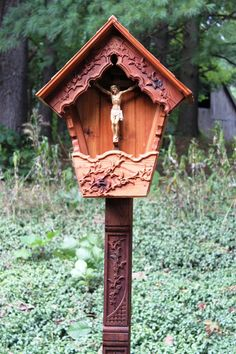Small Alpine Wayside Shrine Garden Crucifix by WaysideShrines
