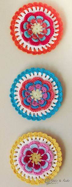 crocheted plates