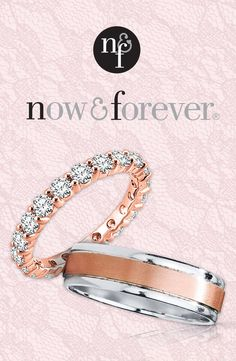 Find your perfect wedding band match with the Now and Forever collection.
