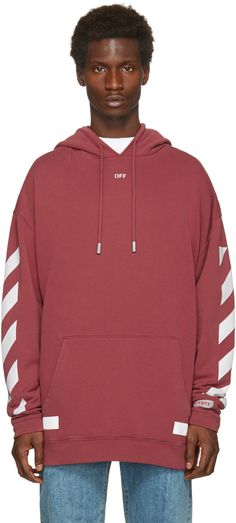 Off-White - Red Diagonal Arrows Over Hoodie
