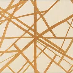 Kelly Wearstler Channels Copper/Beige Wallpaper