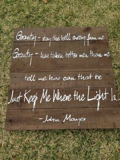 Reclaimed Wood hand painted Custom Song Lyrics John Mayer -Gravity on Etsy, $200.00
