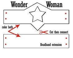 wonder woman crown template - Google Search