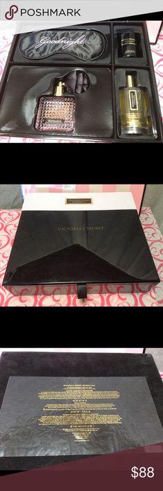 Victoria's Secret SCANDALOUS 5 Pieces Gift Set Victoria's Secret SCANDALOUS 5 Pieces Gift Set.                                                                                    Includes:                                                                                                                                                 - Eye mask   - Scented Candle 56 g / 2 oz                                     - Eau De Parfum 50 ml / 1.7 fl oz.    - Room & Pillow Spray 100 ml /3.4 fl oz…