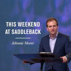 This weekend at Saddleback well begin a new series called Closer focusing on how you can be healthier and happier by building strong relationships. Well be joined by Johnnie Moore best-selling author and friend of Saddleback Church for a message called Being Patient Like God. See you this weekend!