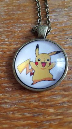 Pikachu Necklace by AwesomeOddities on Etsy