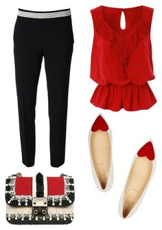 valentines day by mias-fashion101 on Polyvore featuring polyvore, fashion, style, Jane Norman, Moschino, Christian Louboutin, Valentino, women's clothing, women's fashion, women, female, woman, misses and juniors