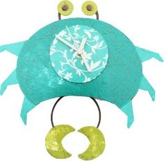 Beach Crab Wall Clock - Handmade Artistry by Oxidos, $39.99 (click to see offer)