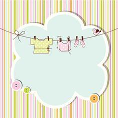 Baby shower card vector image on VectorStock Baby Shower Gift Bags, Baby Shower Cards, Baby Cards, Imprimibles Baby Shower, Baby Shower Invitaciones, Scrapbook Bebe, Pregnancy Scrapbook, Shower Tips, Baby Shawer