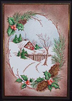 Stampendous Christmas Cottage. Julie Makela