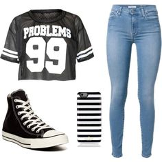 Swag look by st034mg on Polyvore featuring polyvore, fashion, style, Converse and Kate Spade
