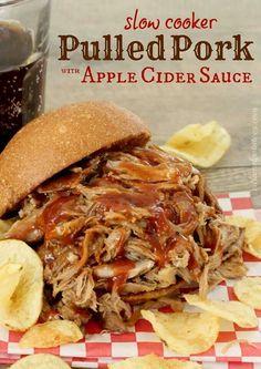 Apple cider pulled pork