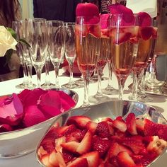 Luxe Strawberries and Champagne