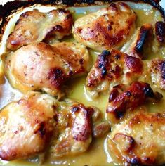 Recipe For Man-Pleasing Chicken - This chicken quite simply is one of the most savory things I've ever eaten. If you are the busiest person on the planet and don't have much cooking experience but you have to prepare a meal to woo the love of your life cook this chicken!