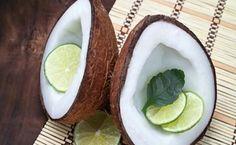 Hindistan cevizi yağı ve limon suyu