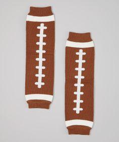 Brown & White Football Leg Warmers