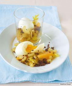 Mit Sellerie, Orange und geröstetem Pumpernickel frisch und mit Biss. Unbedingt zum nächsten Frühstück probieren!
