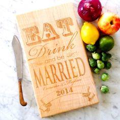 personalized wedding cutting board