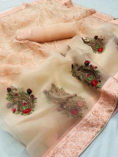 Embroidery Saree, Embroidery Suits, Embroidery Designs, Hand Embroidery, Organza Saree, Silk Sarees, Indian Sarees, Net Saree, Georgette Sarees