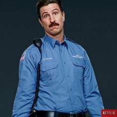 George Mendez (Pablo Schreiber) is a crooked correctional officer at Litchfield Prison in Orange is the New Black. Though he goes by Mendez, the inmates prefer Litchfield Prison, Jenji Kohan, Pablo Schreiber, New Comedies, Men In Uniform, Living In New York, Orange Is The New Black, Halloween Cosplay, Costumes