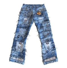 Ticila Seven Star Hardcore Unique Handmade Rocker Jeans Pant 30/32/34/36/38/40/42