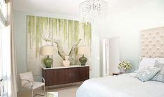 Beautiful bedroom with de Gournay panels.