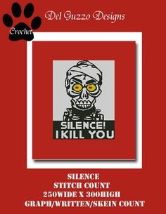 Achmed Silence Crochet Graph Graphghan by DelGuzzoDesignStudio
