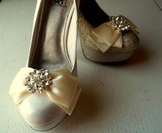 Hey, I found this really awesome Etsy listing at https://www.etsy.com/listing/217117725/wedding-shoe-clips-satin-bows-many