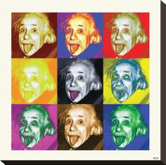 Albert Einstein-Pop Art Stretched Canvas Print at eu.art.com