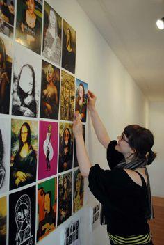 Preparing the exhibition Mona Lisa, Polaroid Film