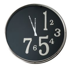 X-Clock With Large Black Face - Barbara Cosgrove