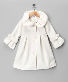 White fleece, order buttons online. (For Lilly Mae)