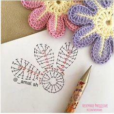 sh have a nice day my friends 💕💕 This Pin was discovered by Ayn Crochet Bedspread Patterns Part 15 - Beautiful Crochet Patterns and Knitting Patterns Crochet Flower - Chart ❥ hi Florzinha linda Via Marque-pages Au Crochet, Beau Crochet, Crochet Amigurumi, Crochet Motifs, Crochet Diagram, Crochet Chart, Crochet Stitch, Irish Crochet, Crochet Flower Tutorial