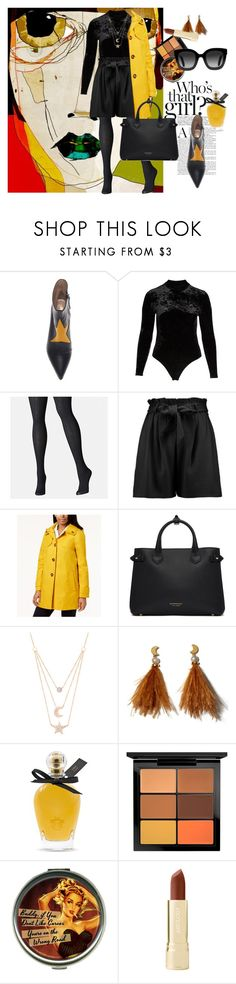 """""""Plus size but my style """"rocks"""""""" by barb13nd ❤ liked on Polyvore featuring Only Hearts, Avenue, Boohoo, London Fog, Burberry, Gabi Rielle, Lizzie Fortunato, EB Florals, MAC Cosmetics and Axiology"""