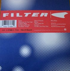 "Filter / Title Of Record 1999 Reprise Records 12"" x 12"" Promo Poster / Miss Blue #Filter #Music #Poster"