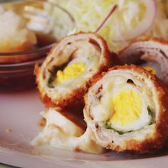 "How to make Crispy Pork and Cheese ""Sushi Rolls"""