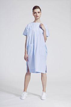 IMRECZEOVA SS16 blue striped oversized shirt dress Oversized Shirt Dress, Ss16, Blue Stripes, Shirts, Tops, Dresses, Fashion, Oversized Dress, Gowns