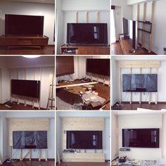 忘備録/2×4材/DIY/壁掛けテレビ/張ってははがし。。。/塗っては塗り重ね。。。…などのインテリア実例 - 2016-03-09 08:22:16 | RoomClip(ルームクリップ)