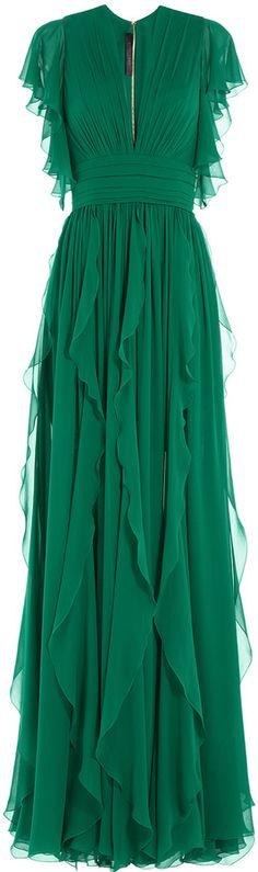 Elie Saab Silk Evening Gown