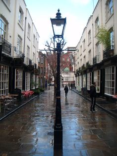 Woburn Walk, London, WC1. W B Yeats lived at number 5, where Ezra Pound and other literati would gather on a Monday Evenings. Particularly beautiful at Christmas .,